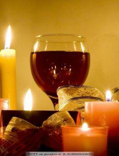 红酒烛光浪漫图片大全