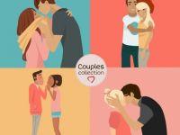 夫妻背影浪漫图片卡通