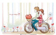 唯美爱情卡通图片一对