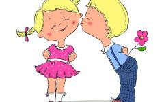 美好的爱情卡通图片