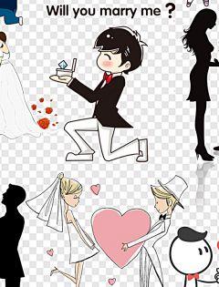 浪漫动漫情侣求婚图片
