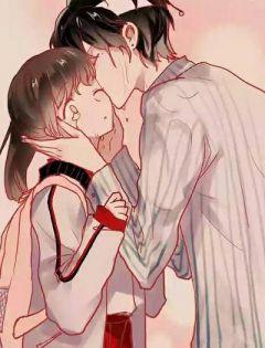 浪漫动漫情侣拥抱图片