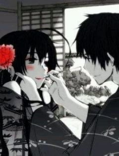 温馨浪漫情侣图片动漫