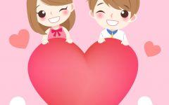 浪漫小情侣卡通图片
