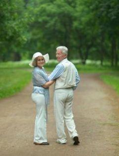 浪漫老人情侣背影图片