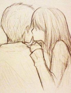 情侣素描图片大全浪漫