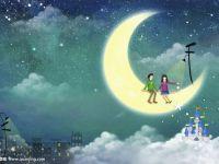 浪漫月亮图片大全情侣