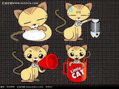 动漫猫猫可爱图