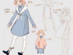 女生衣服的可爱图案设计