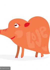 猪可爱图片主题图片