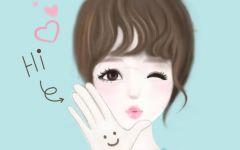 女孩卡通可爱图片