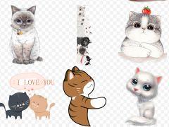 动漫萌猫图片可爱图片