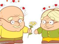 卡通老人情侣图像高清
