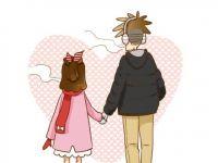 浪漫可爱带字情侣图片