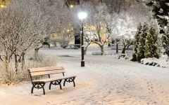 浪漫雪景图片唯美