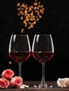 浪漫的红酒图片唯美