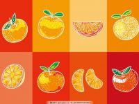 橙子浪漫清新唯美水果图片