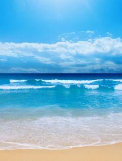 浪漫唯美沙滩风景图片