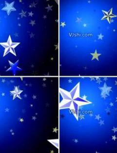 浪漫蓝色星空唯美图片