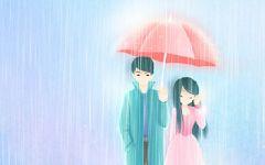 动漫情侣头像浪漫甜蜜