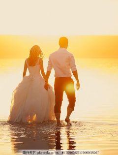 海滩浪漫唯美图片