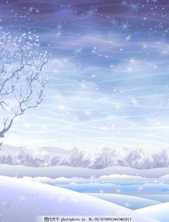 浪漫冬季下雪图片大全