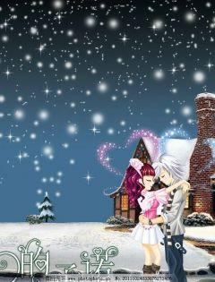 浪漫下雪情人图片大全
