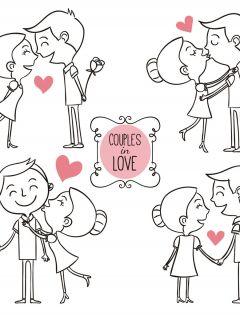 浪漫手绘情侣图片大全