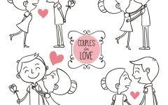 浪漫手绘情侣图片