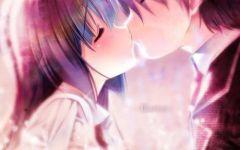 动漫情侣头像接吻浪漫