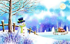 浪漫的下雪天图片卡通