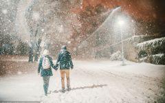 两个人浪漫下雪图片