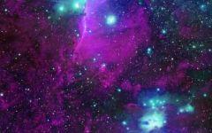 紫色浪漫星空图片超清