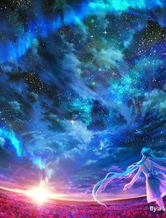动漫浪漫星空图片梦幻