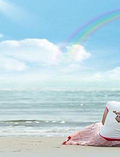 沙滩浪漫情侣图片