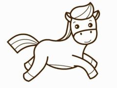 马的简笔画图片大全
