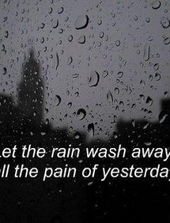 下雨天唯美伤感图片