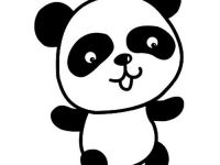 熊猫简笔画图片大全