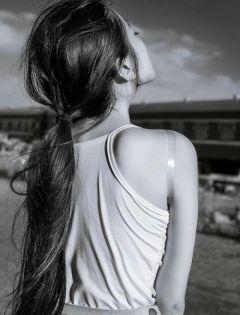 背影图片唯美伤感黑白图片