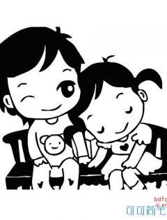 情侣卡通动漫图片简笔