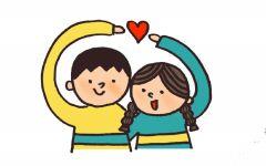情侣图片可爱简笔画
