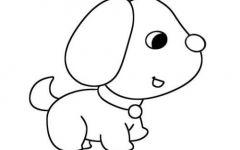 小狗简笔画大全可爱