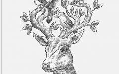 森林和鹿唯美图片简笔画图片
