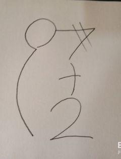 723老鼠数字简笔画
