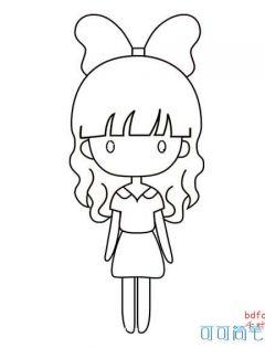 q版可爱卡通人物简笔画