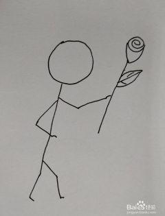 抖音小人简笔画跳舞