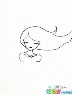 简笔画人物少女可爱