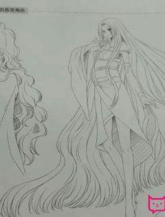 动漫可爱少女简笔画
