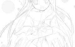 可爱的少女的简笔画