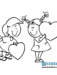 q版人物简笔画可爱情侣